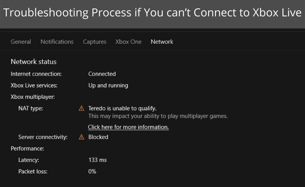 7 Troubleshooting Process if You can't Connect to Xbox Live